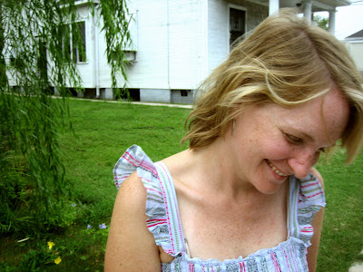 Sarah, front yard