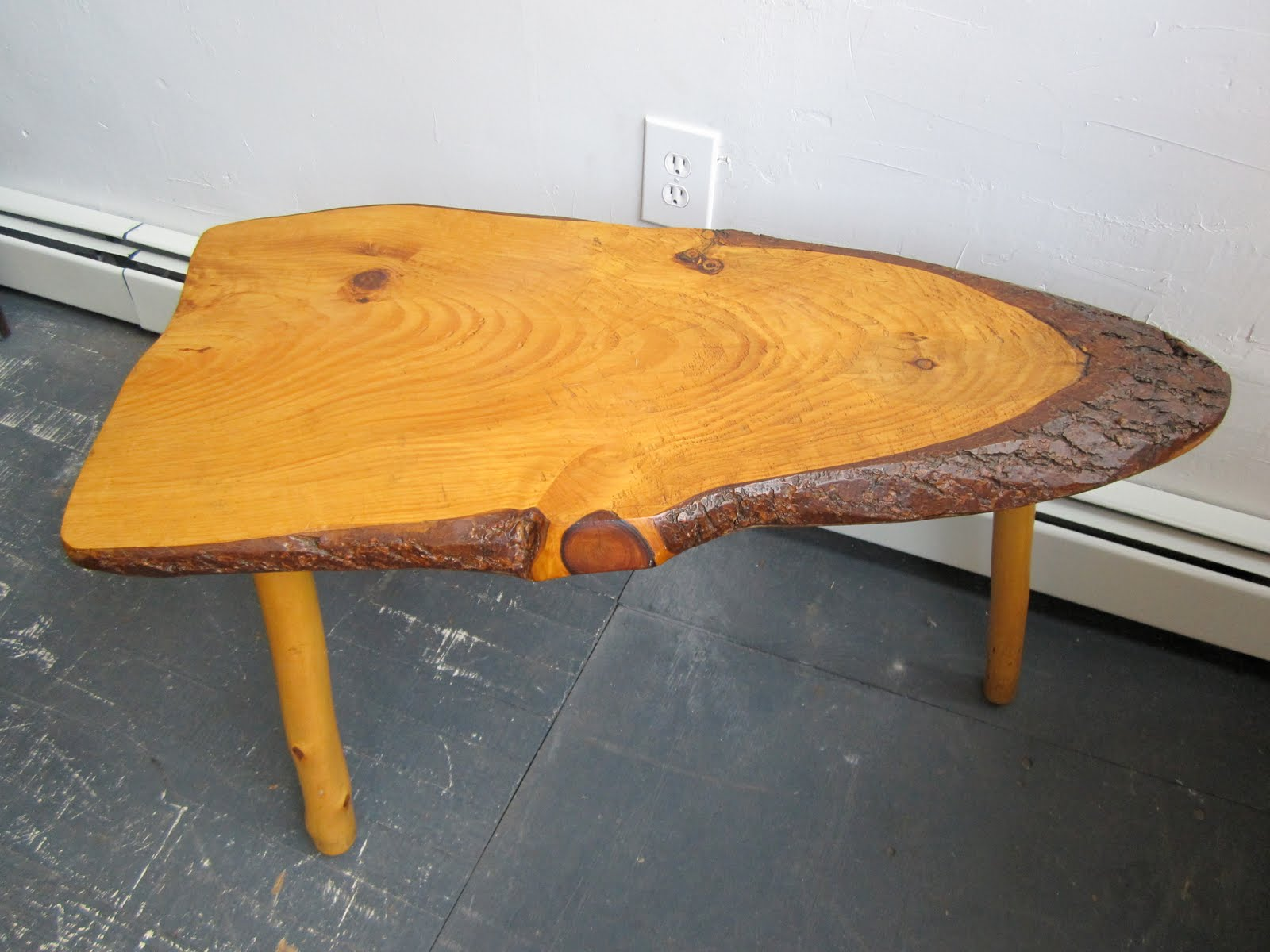 30 West Vintage And Modern Natural Wood Mid Century Coffee Table