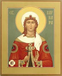 Sfanta Mucenita Varvara, praznuita de Biserica Ortodoxa pe 4 decembrie