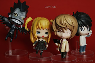 death note nendoroid, death note nendoroid figures, nendoroid, pvc nendoroids, death note, photography, figures photography
