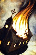 La única iglesia que ilumina es la que arde