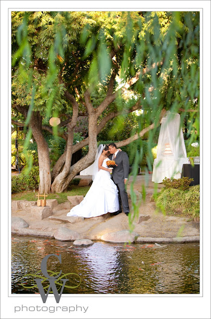 Earl Burns Japanese Garden Wedding, Long Beach CA