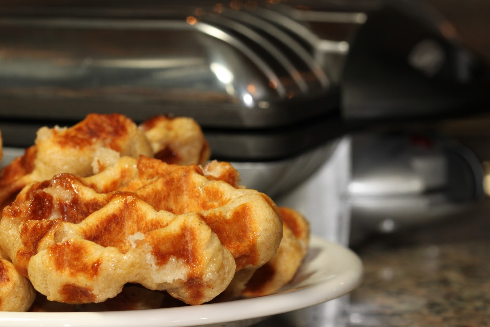 Baking is my Zen: Liege Waffles ~ HOT OFF THE PRESS