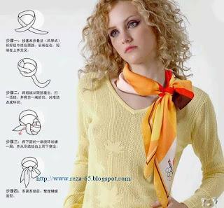 گره زدن روسری دور گردن آموزش تصویری زیباترین مدل های گره زدن روسری به دور گردن ...