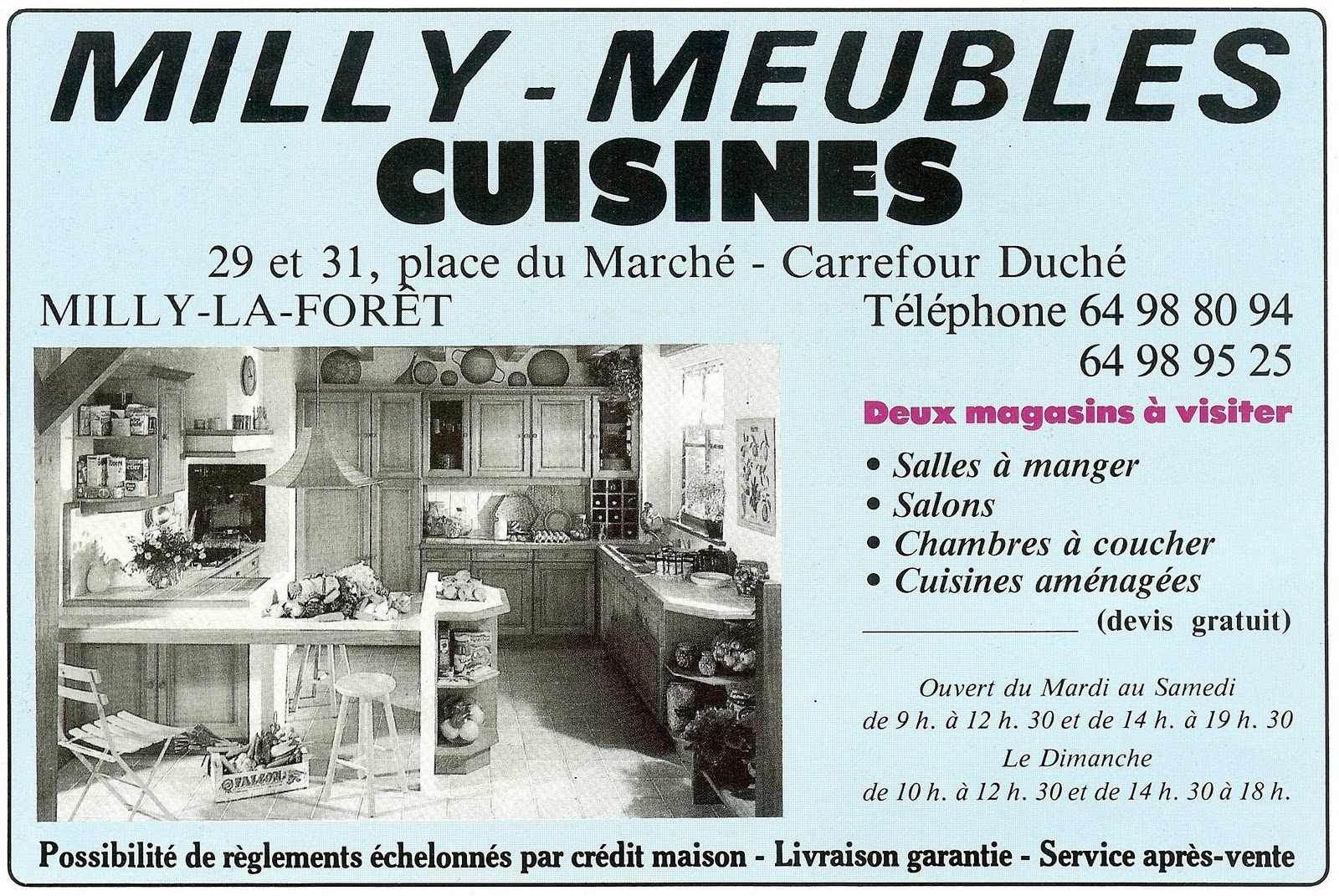 histoire des commerces de milly la foret n 29 place du marche univ 39 hair. Black Bedroom Furniture Sets. Home Design Ideas