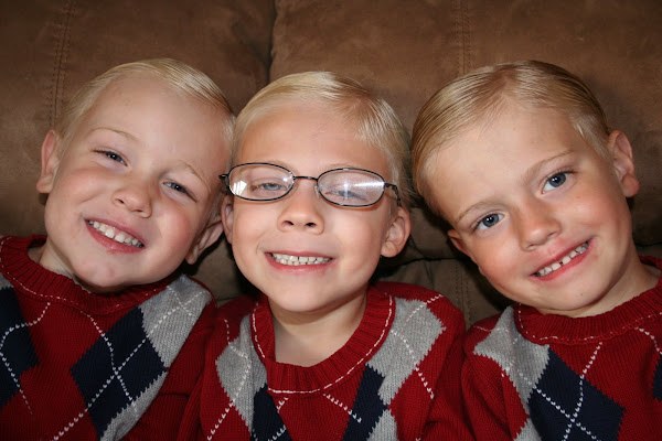 Jase,Gator and JJ ready for church they do so well ;0