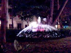 Una de las 4 Fuentes de la Plaza de Bolívar en Cartagena