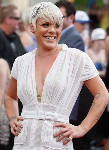 Singer Pink was almost kicked out of a campsite on her birthday because she