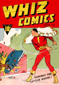 Whiz Comics feature Captain Marvel