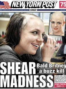 My mom is gonna kill me, says bald Britney!
