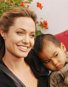 Angelina with her son Maddox