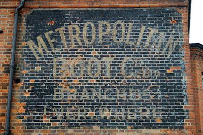 Tottenham Seven Sisters West Green Road ghost sign Metropolitan boot company