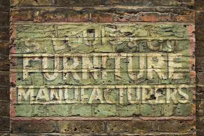Shoreditch furniture Louis ghost sign