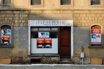 Germany Meissen hairdressing salon hairdresser ghost sign