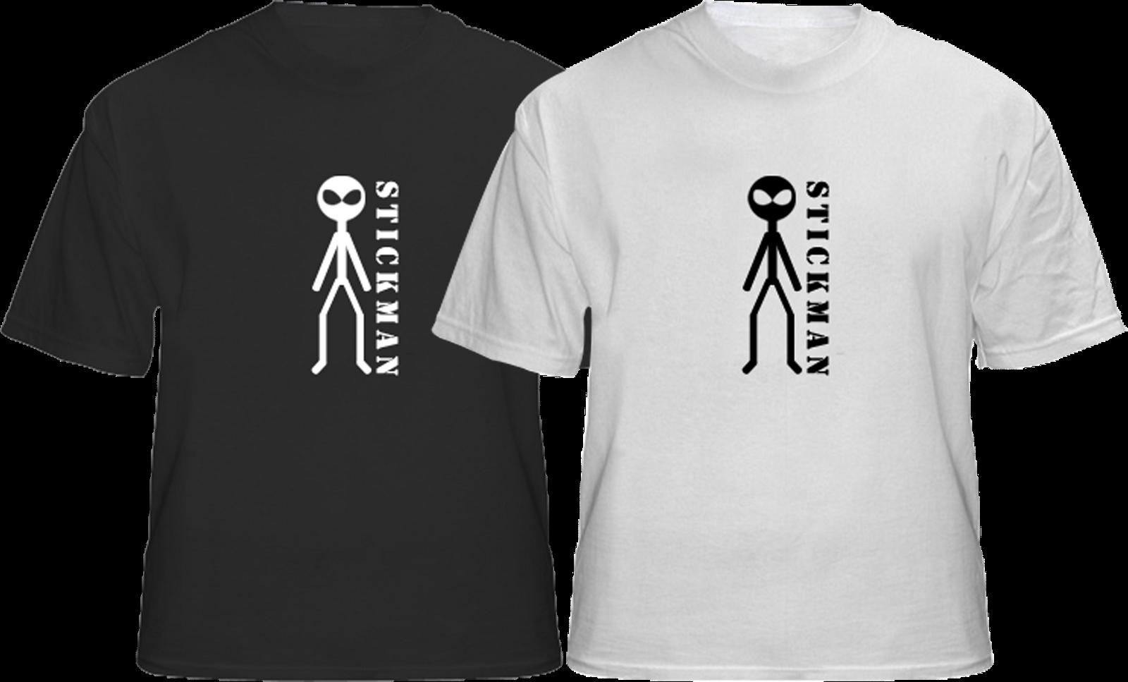 Stickman T Shirt Design Tendencies Tshirt My Hitam S