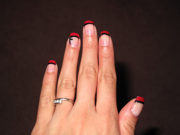 nail design red french