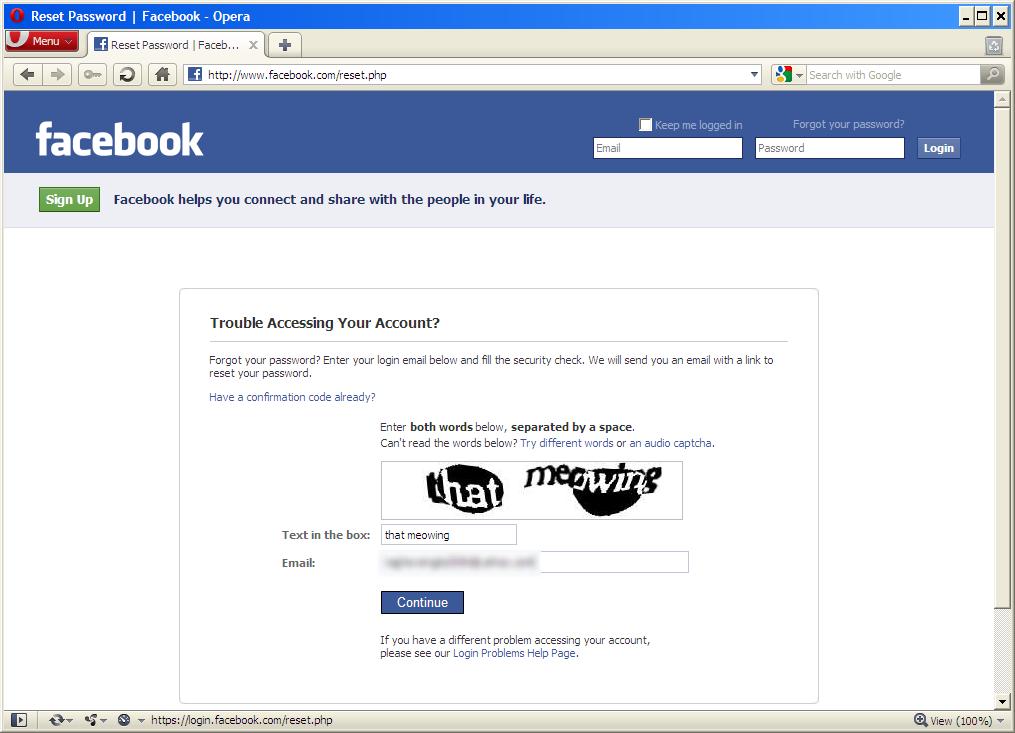 Facebook password reset code generatorgolkes