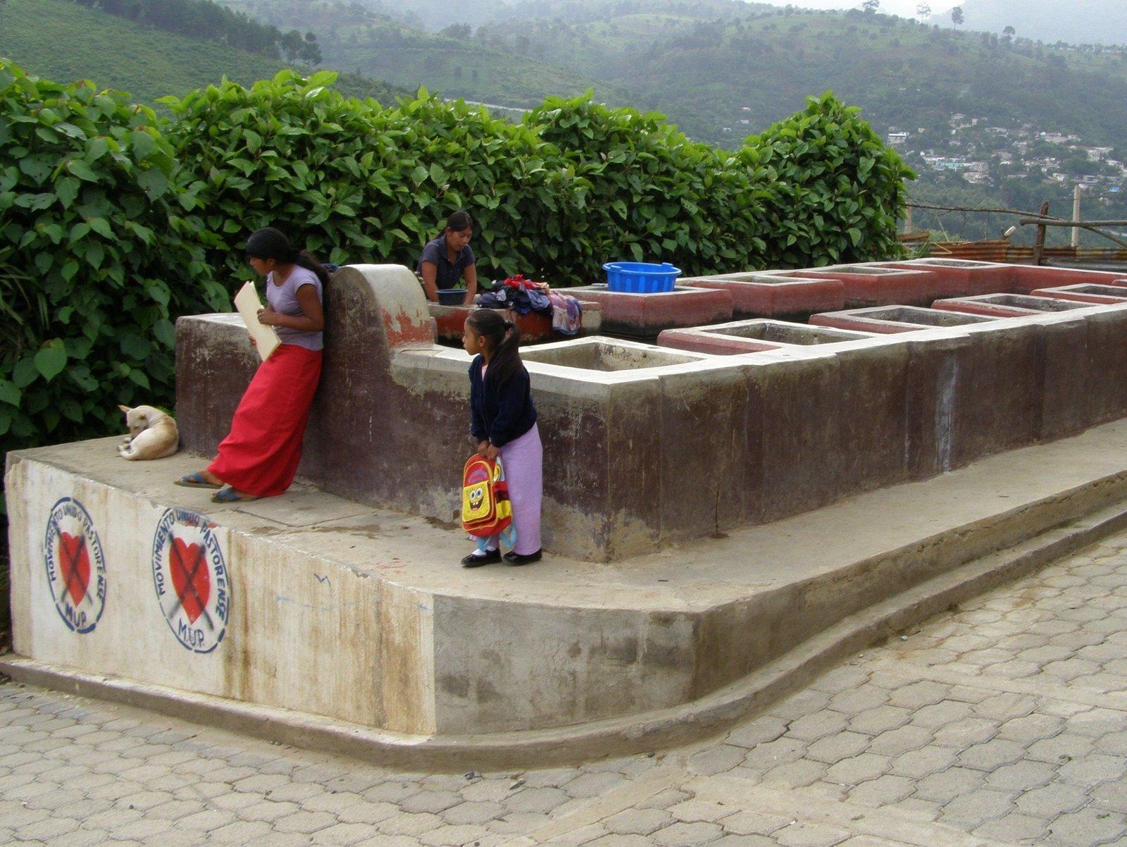 public laundry, guatemala