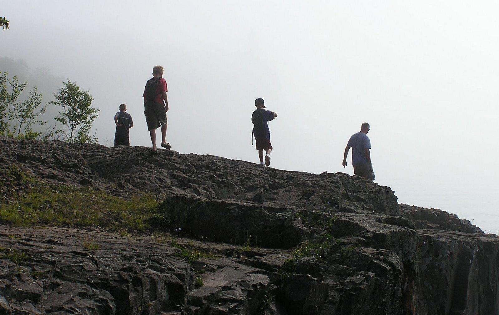 hiking north shore of lake superior at split rock