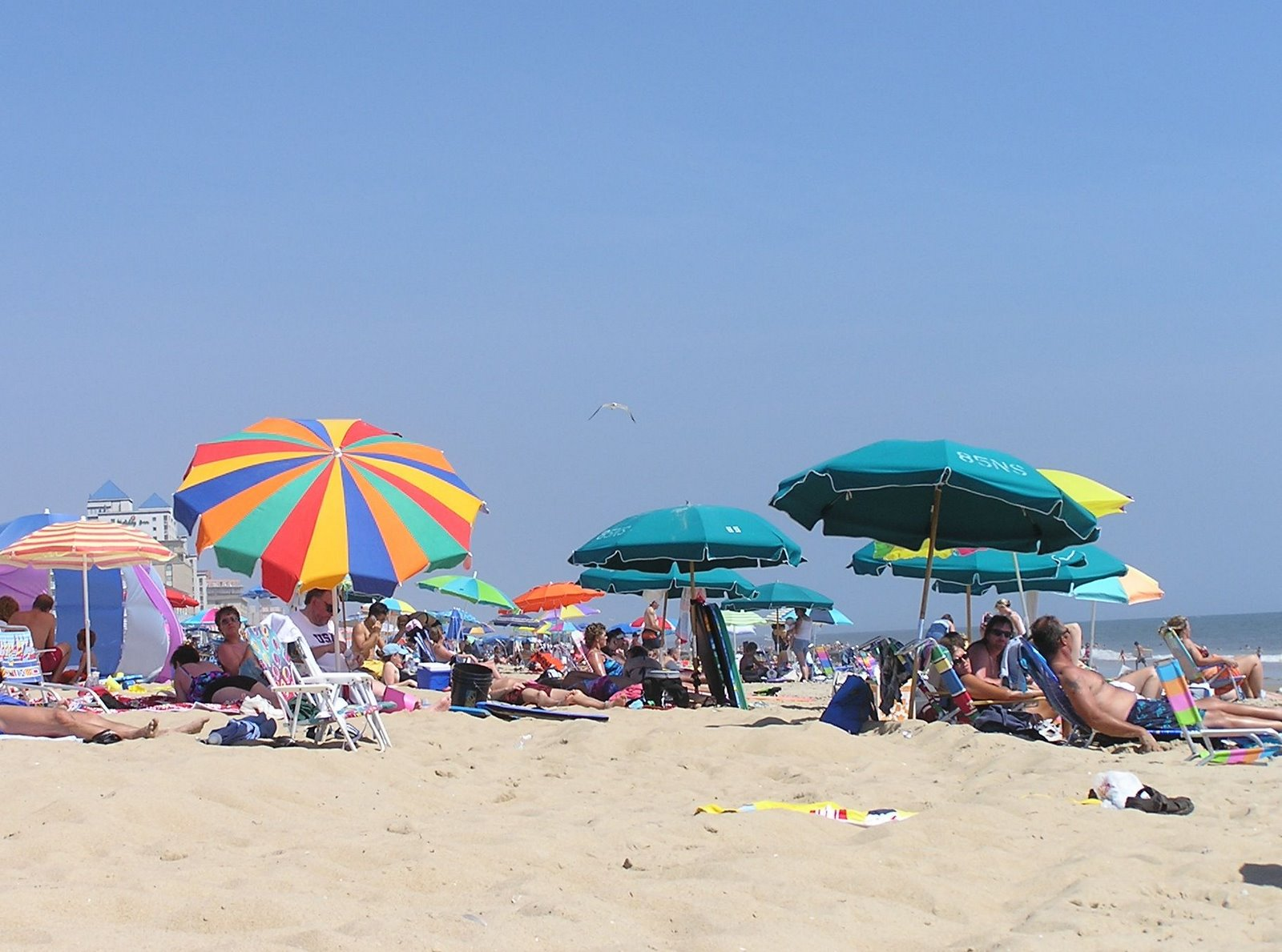beach umbrellas, ocean city, maryland