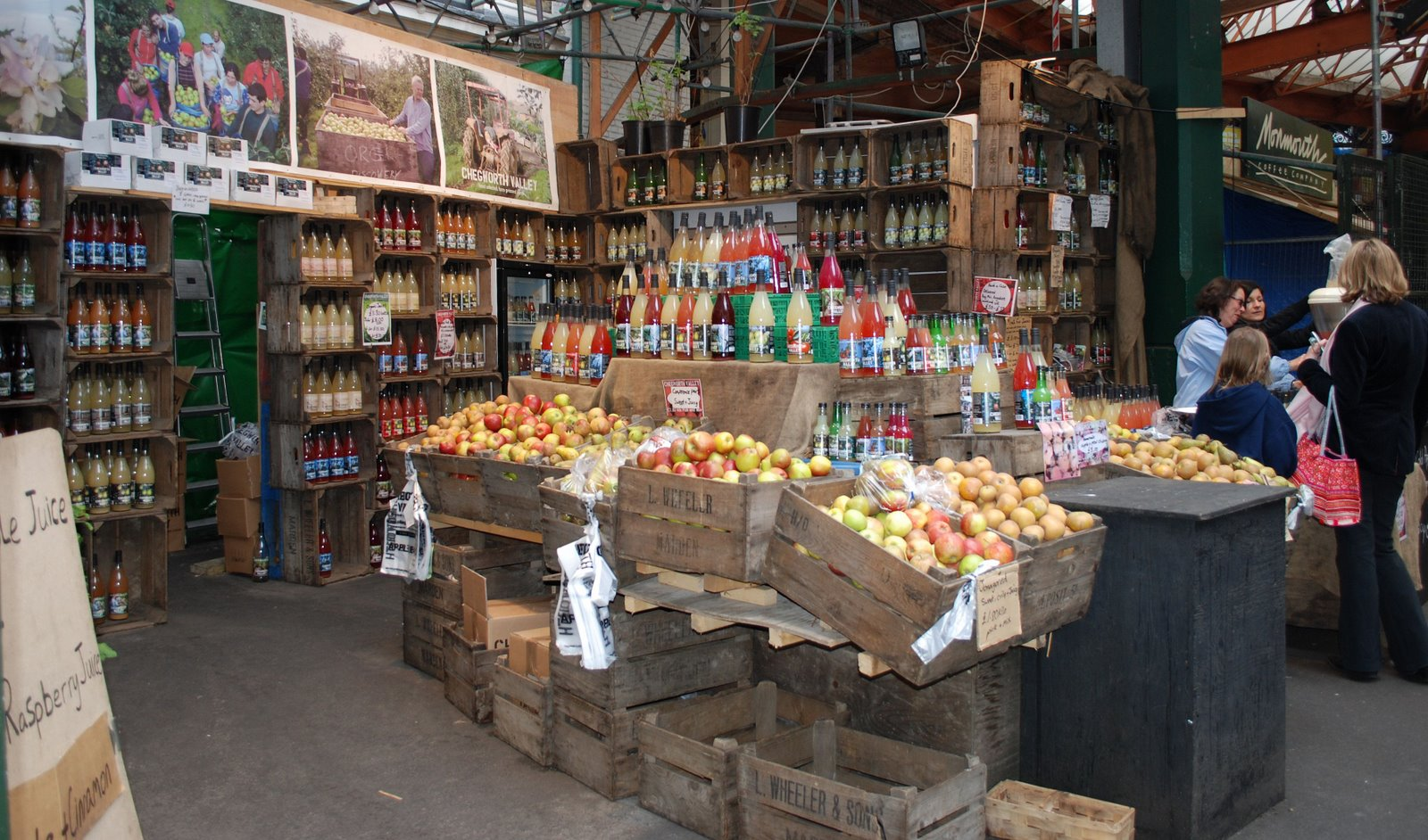 borough market, chegworth valley fruit juices