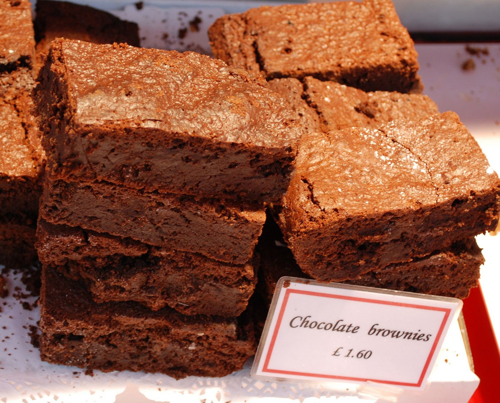 borough market, brownies