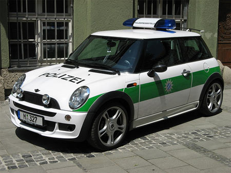 An English Bavarian police car
