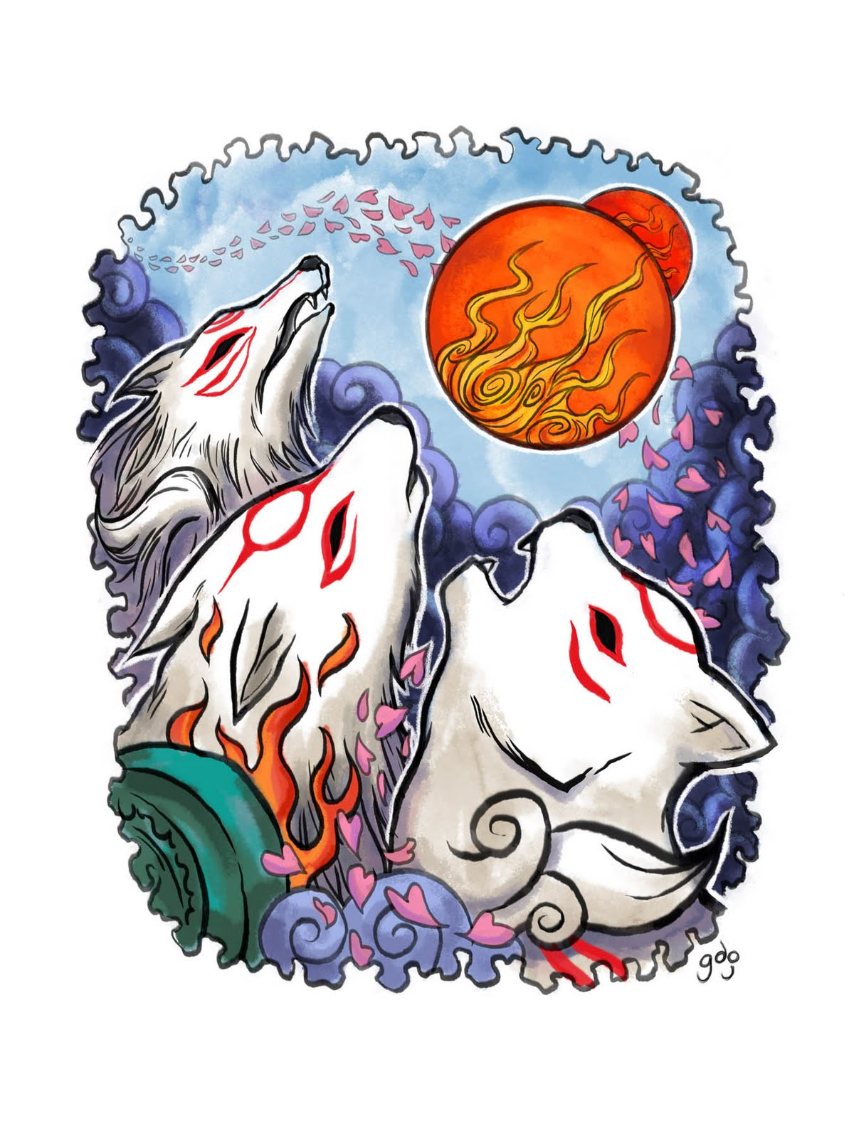 Okami HD & Widescreen Wallpaper 0.969875406221345