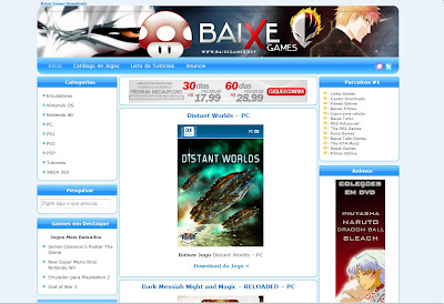 Template do Baixe Games - Blogger