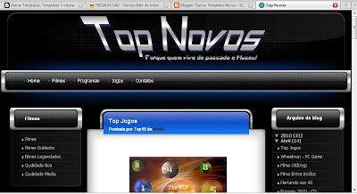 Template Top Novos - Blogger
