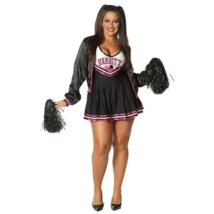 cheerleader girl halloween black costume
