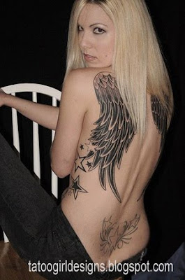 angel wings tattoo designs back woman body