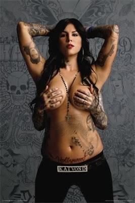 Kat VonD naked sexy tattoo