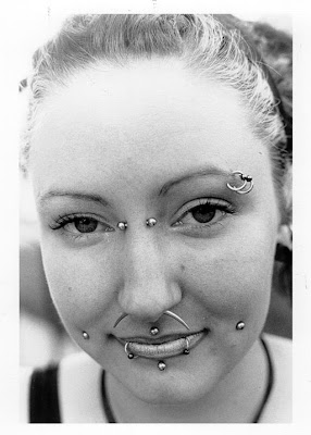 piercing face girl