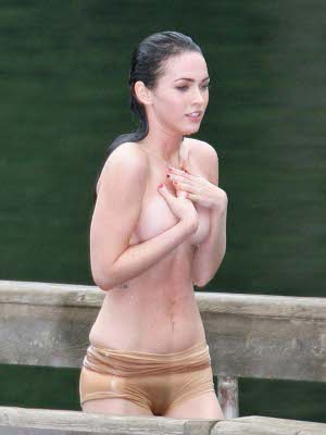megan fox top less