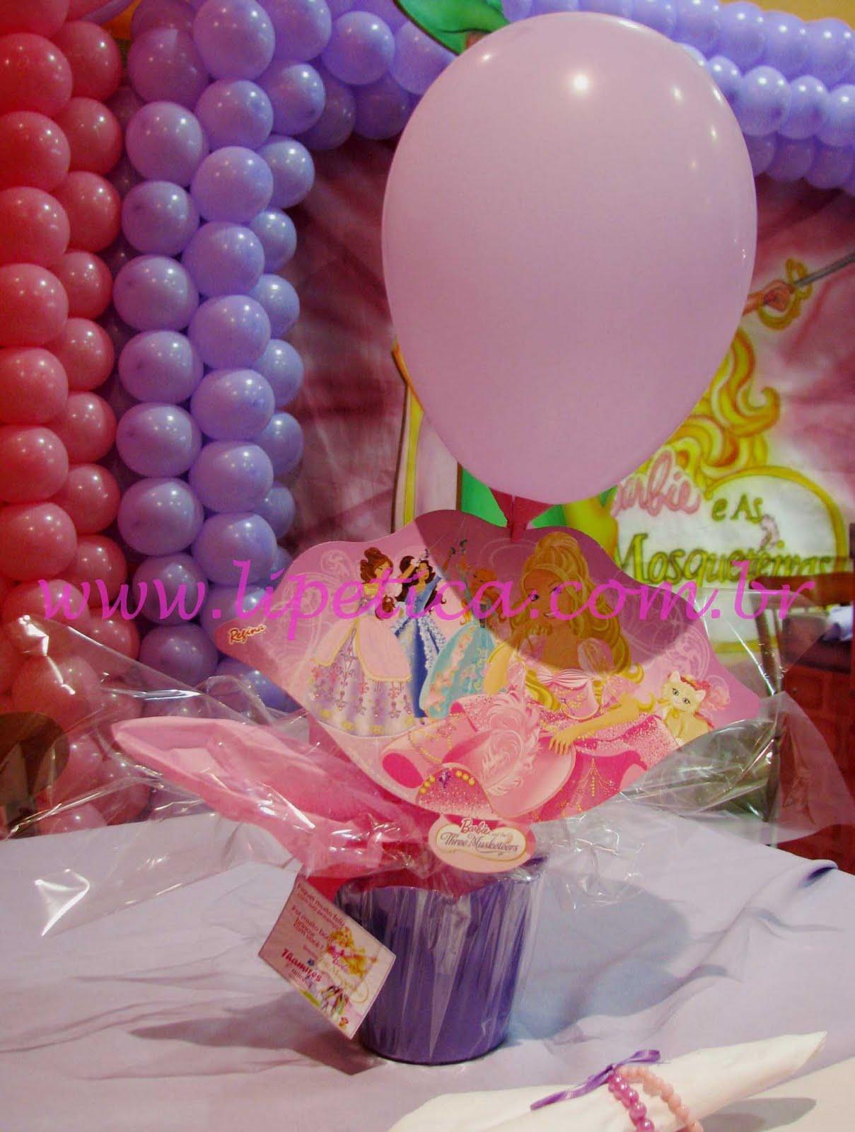 Centro De Mesa Barbie E As 3 Mosqueitas