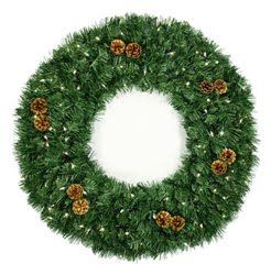 Winchester Pre Lit Christmas Wreath