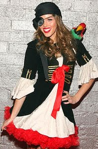 Kayla Ewell in Pirate Costume