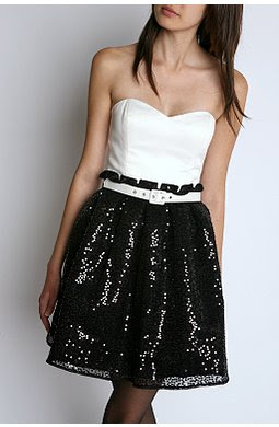 White Party Dress on Black And White Sequin Dress Betsey Johnson Holiday Party Dress Urban