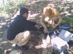 Pemeriksaan sampel air sungai Karajae