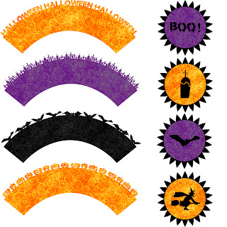 Free SVG | Halloween Cupcake Topper and Wrapper