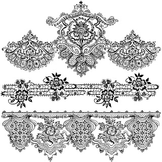 Lace Border | Digi Stamps