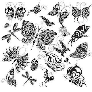 Free Digi Stamps | Butterflies