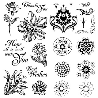 Free 17 Digi Stamps Flowers