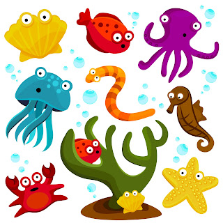 Ocean Animals Clip Art Free http://www.sherykdesigns-blog.com/2011/02/free-clip-arts-sea-creatures.html