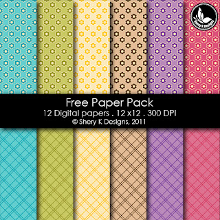 Free Printable 12 Digital Papers 12x12 300 DPI
