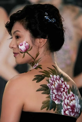 Flower Become Face And Body Painting Design