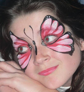 Face Painting With Butterfly Theme