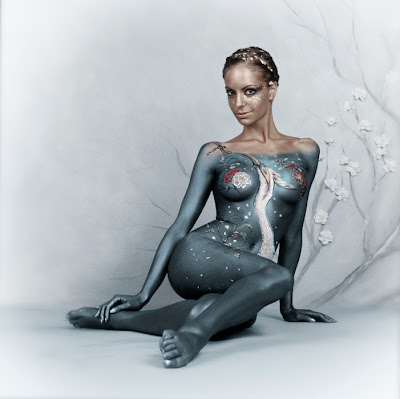 Views Of Sexy Body Art Painting And Sexy Woman