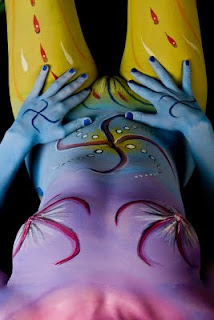 Abstract Design For Body Art Painting On Sexy Body